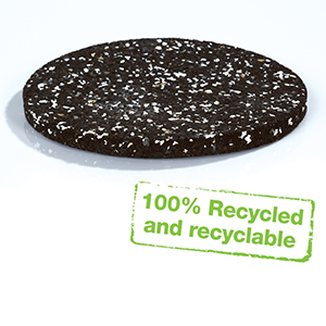 Regupol 3912 is made from PUR foam - 100% recycled and recyclable.