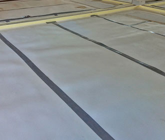 Isomass Isocheck laid out to isolate screeds.