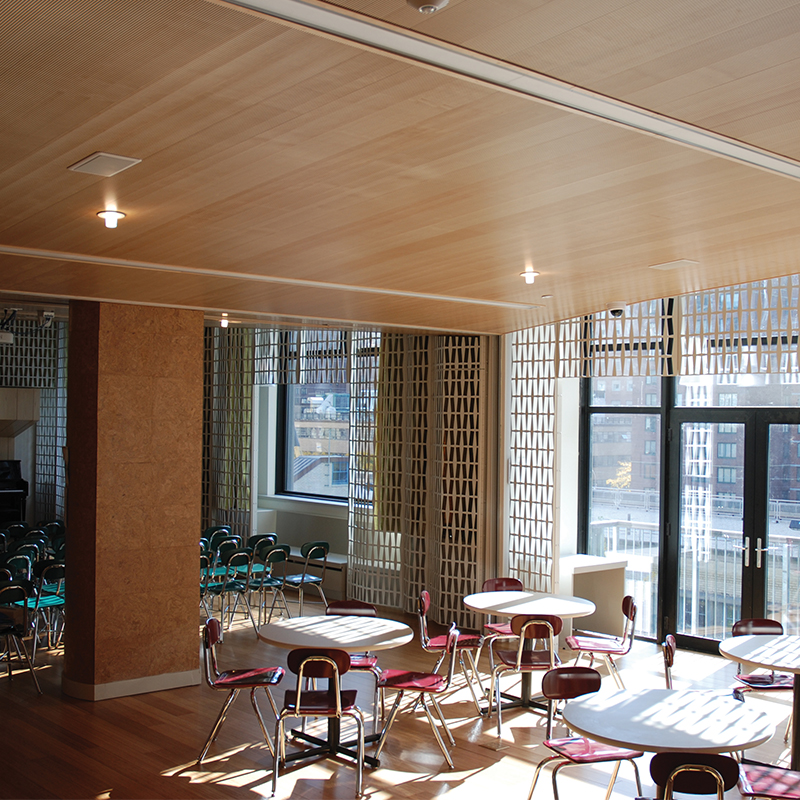 Decoustics Solo Soundproofing Timber Acoustic Planks - Seating Area