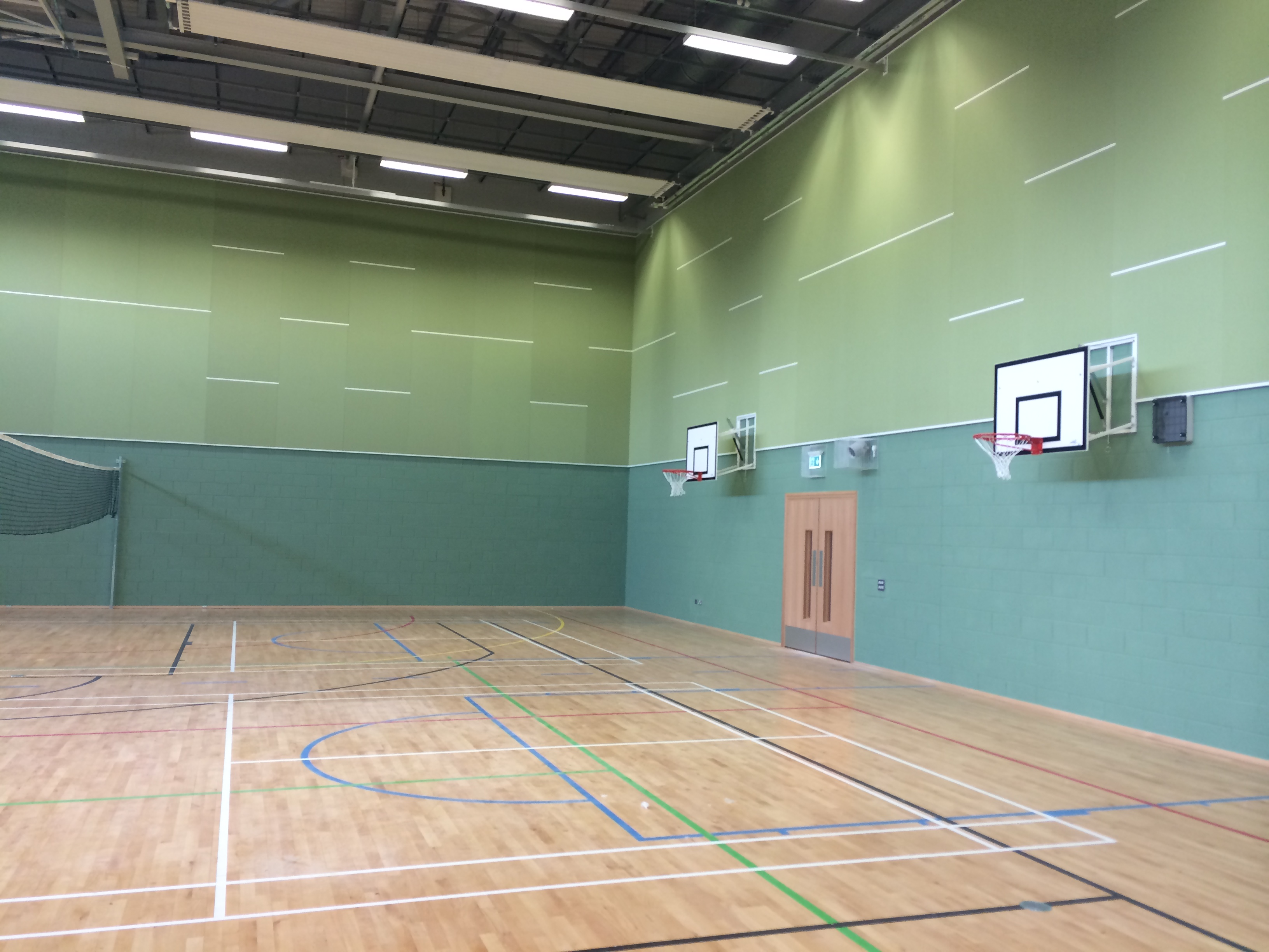 Ellon Academy, Aberdeenshire, Scotland - Wallsorba Soundproofing Acoustic Panels - Sports Hall