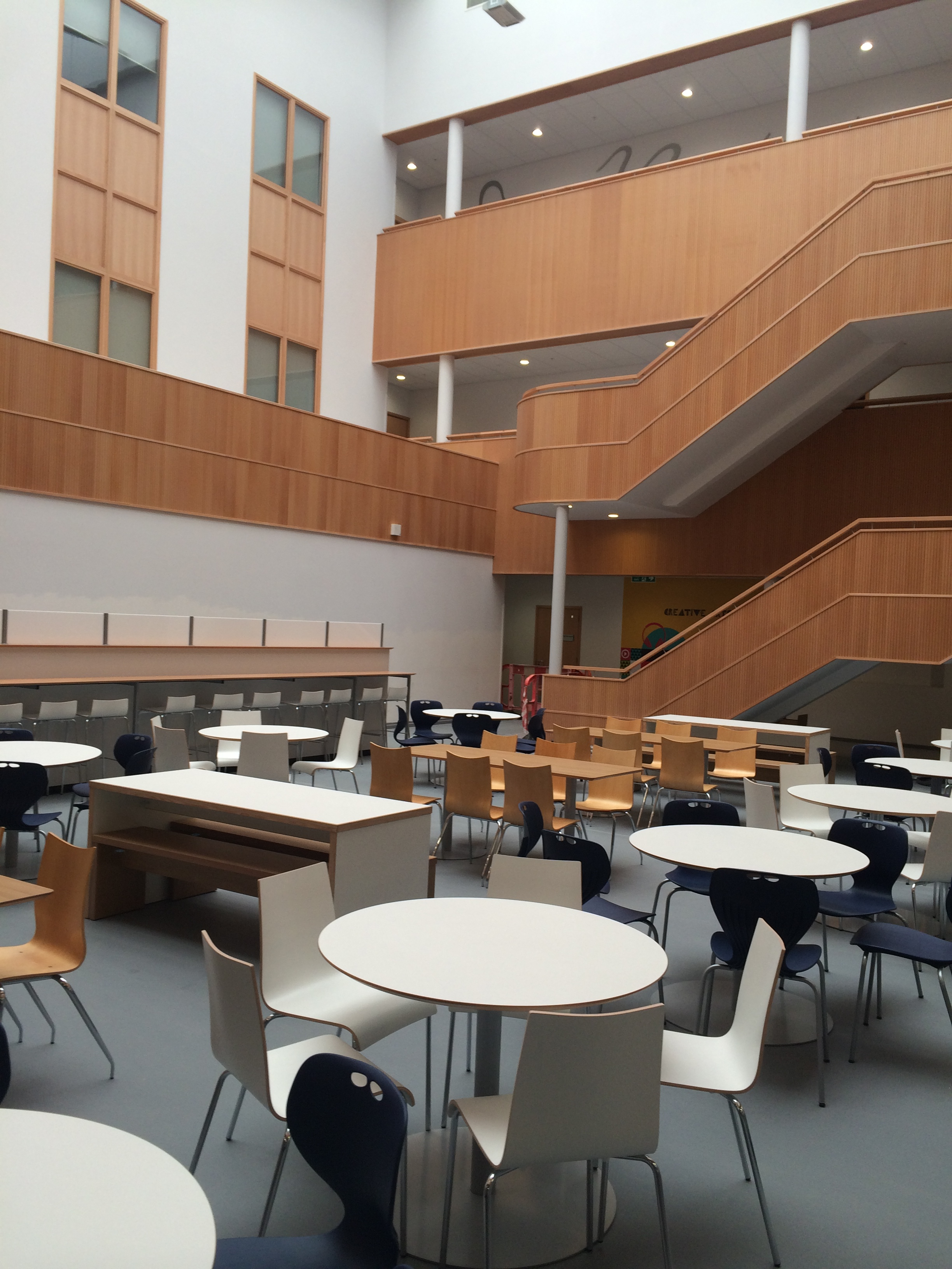 Ellon Academy, Aberdeenshire, Scotland - Woodsorba Timber Soundproofing Acoustic Panels - Seating Area