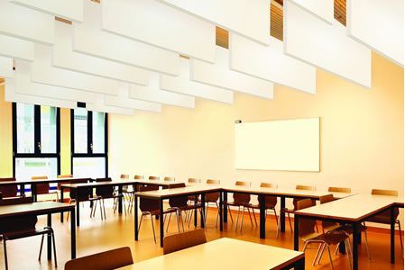 Bafflesorba Soundproofing Acoustic Suspended Ceiling Panels - Classroom