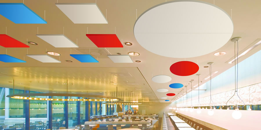 Cloudsorba Soundproofing Acoustic Suspended Ceiling Panels - Seating Area