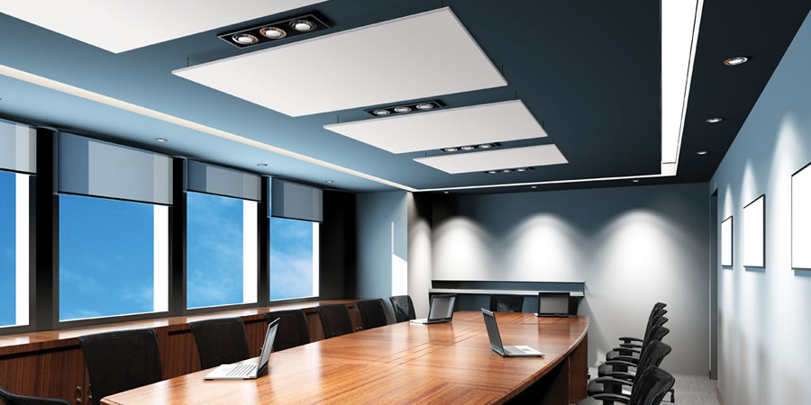 Cloudsorba Soundproofing Acoustic Suspended Ceiling Panels - Conference Room