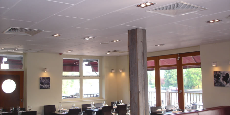 Echosorba II Soundproofing Acoustic Panels - Restaurant