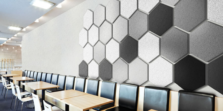 Wallsorba Soundproofing Acoustic Panels - Restaruant Seating Area