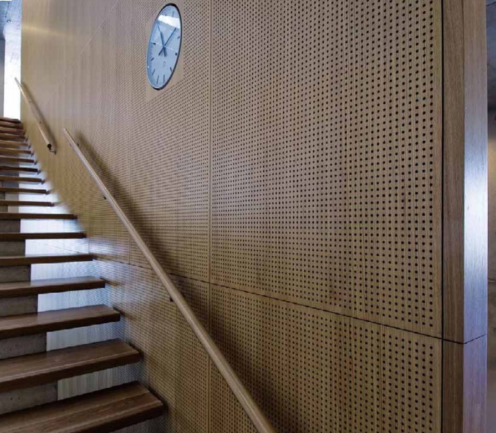 Topperfo Soundproofing Timber Acoustic Panels - Staircase Wall